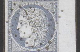 Timbre poste français année 1849