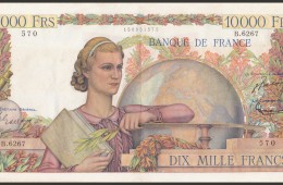 10000 Francs Génie Français ou Étude