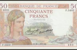 50 Francs type Cérès