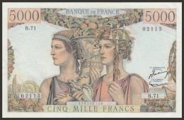 5000 Francs Terre et Mer