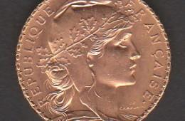20 francs or année 1910